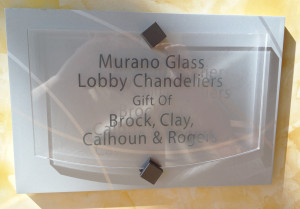 Glass Graphics | Examples of Donor / Recognition Walls, Plaques, & Displays