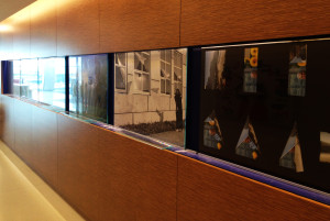 Multi-panel printed glass display created and installed by Glass Graphics of Atlanta.