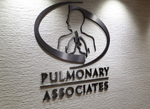 Interior dimensional letter sign for a medical office by Glass Graphics of Atlanta.