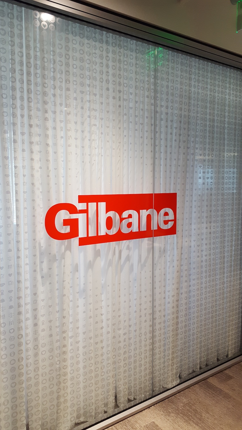 Gilbane Printed Film by Glass Graphics of Atlanta.