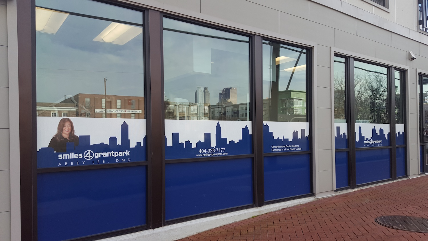 Smiles 4 Grantpark Window Film by Glass Graphics of Atlanta