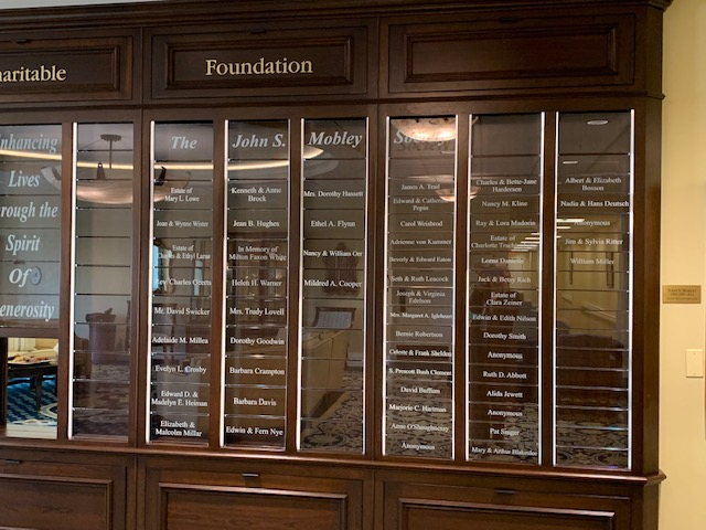 Closeup of Donor Wall