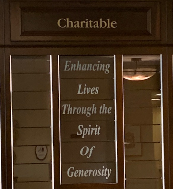 Closeup of the Donor Wall created for Seabury